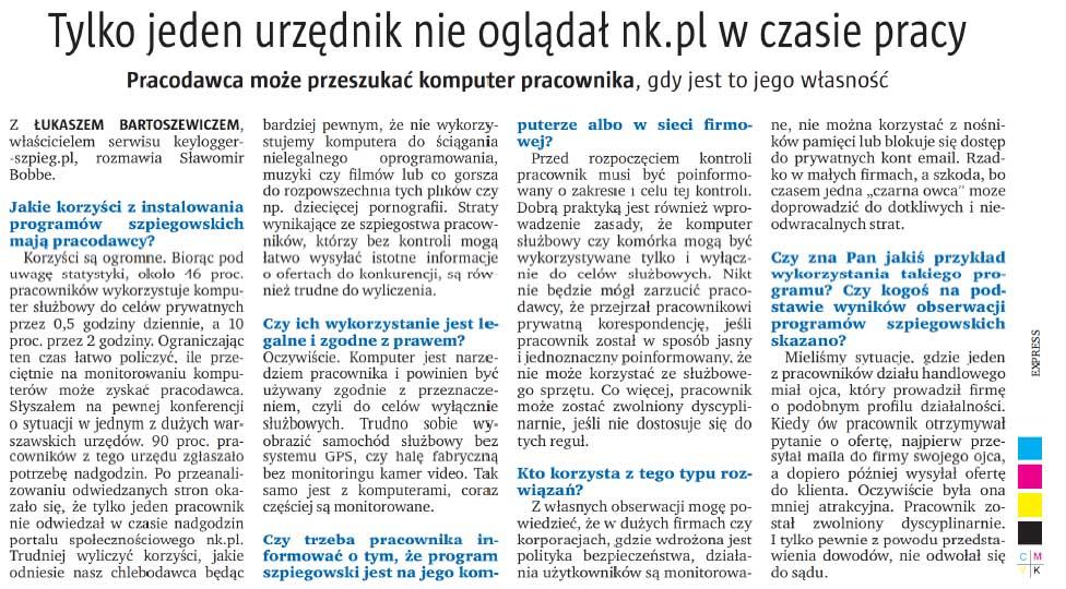 Artykuł Express Bydgoski i Dziennik Toruński